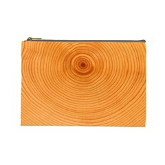 Rings Wood Line Cosmetic Bag (large) by Alisyart