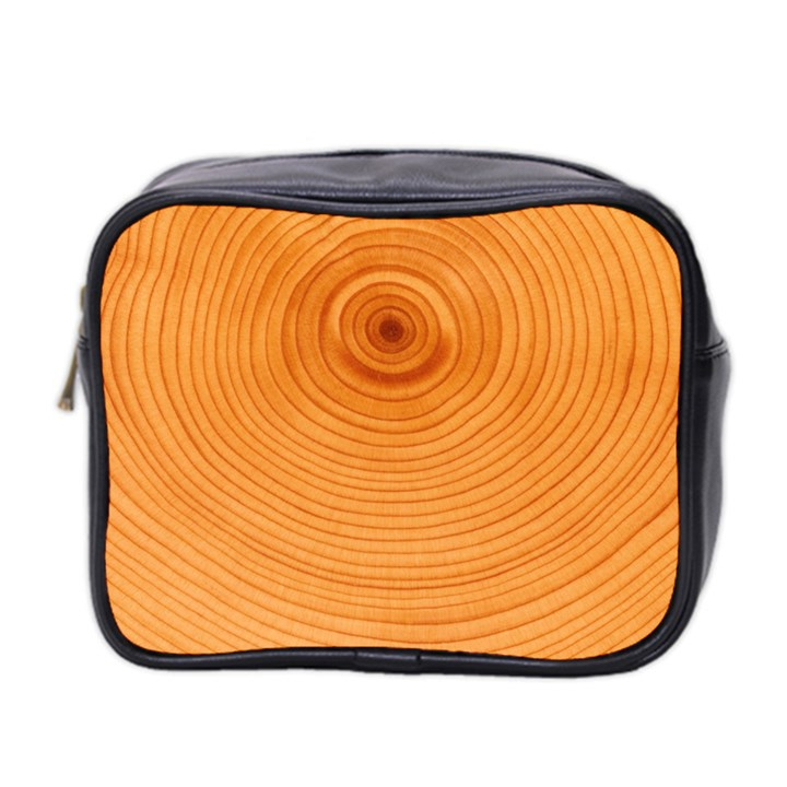 Rings Wood Line Mini Toiletries Bag (Two Sides)
