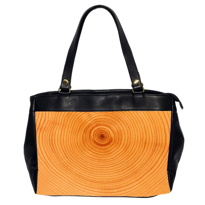 Rings Wood Line Oversize Office Handbag (2 Sides)