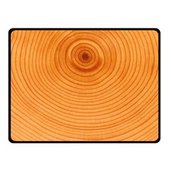 Rings Wood Line Fleece Blanket (small) by Alisyart