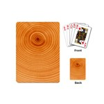 Rings Wood Line Playing Cards (Mini) Back