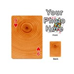 Rings Wood Line Playing Cards 54 (Mini) Front - Heart9