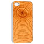 Rings Wood Line Apple iPhone 4/4s Seamless Case (White) Front
