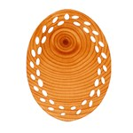 Rings Wood Line Ornament (Oval Filigree) Front