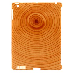 Rings Wood Line Apple Ipad 3/4 Hardshell Case (compatible With Smart Cover)