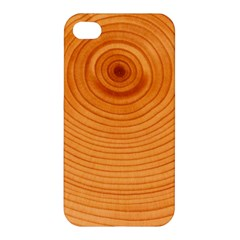 Rings Wood Line Apple Iphone 4/4s Premium Hardshell Case