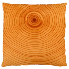 Rings Wood Line Large Cushion Case (one Side)