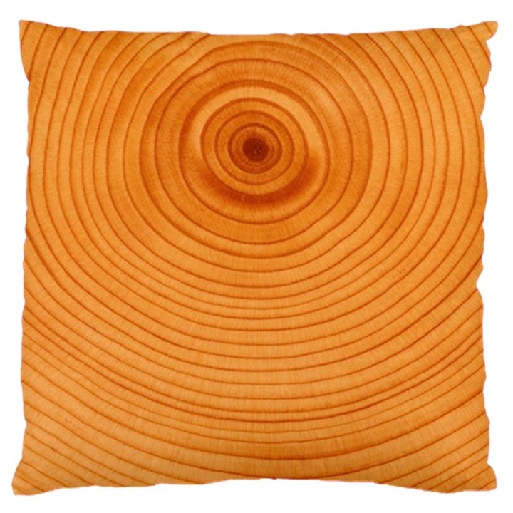 Rings Wood Line Large Cushion Case (Two Sides)
