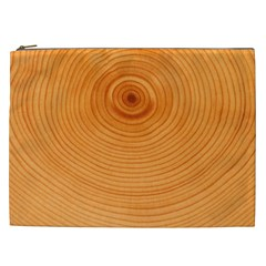 Rings Wood Line Cosmetic Bag (xxl) by Alisyart