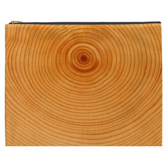Rings Wood Line Cosmetic Bag (xxxl) by Alisyart