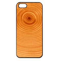 Rings Wood Line Apple Iphone 5 Seamless Case (black)