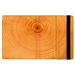 Rings Wood Line Apple Ipad 3/4 Flip Case