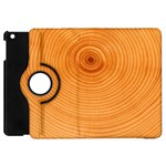 Rings Wood Line Apple iPad Mini Flip 360 Case Front