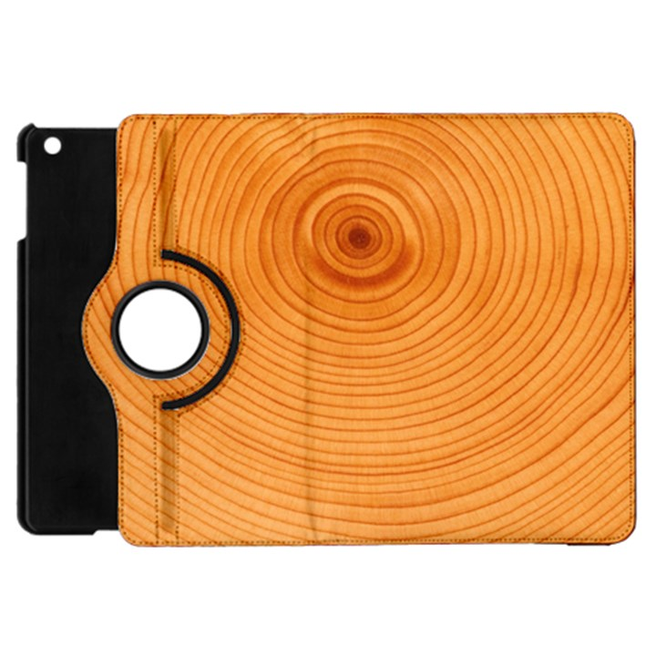 Rings Wood Line Apple iPad Mini Flip 360 Case