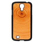 Rings Wood Line Samsung Galaxy S4 I9500/ I9505 Case (Black) Front