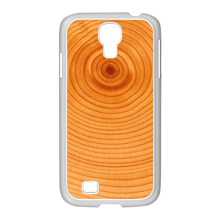 Rings Wood Line Samsung GALAXY S4 I9500/ I9505 Case (White)