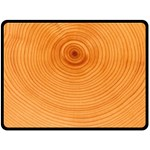 Rings Wood Line Double Sided Fleece Blanket (Large)  80 x60 Blanket Front