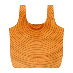 Rings Wood Line Full Print Recycle Bag (l)