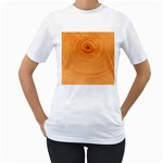 Rings Wood Line Women s T-Shirt (White)  Front