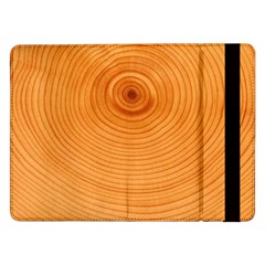 Rings Wood Line Samsung Galaxy Tab Pro 12 2  Flip Case