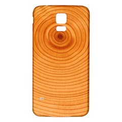 Rings Wood Line Samsung Galaxy S5 Back Case (white)