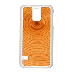 Rings Wood Line Samsung Galaxy S5 Case (white)