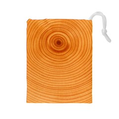 Rings Wood Line Drawstring Pouch (large)