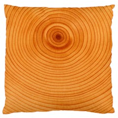 Rings Wood Line Large Flano Cushion Case (one Side)