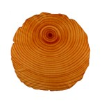 Rings Wood Line Standard 15  Premium Flano Round Cushions Back
