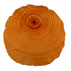 Rings Wood Line Large 18  Premium Flano Round Cushions by Alisyart