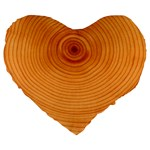 Rings Wood Line Large 19  Premium Flano Heart Shape Cushions Front