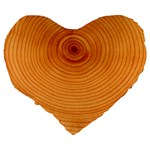 Rings Wood Line Large 19  Premium Flano Heart Shape Cushions Back