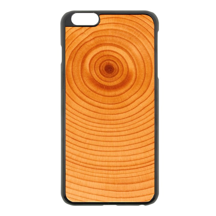Rings Wood Line Apple iPhone 6 Plus/6S Plus Black Enamel Case