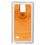 Rings Wood Line Samsung Galaxy Note 4 Case (White) Front