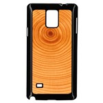 Rings Wood Line Samsung Galaxy Note 4 Case (Black) Front