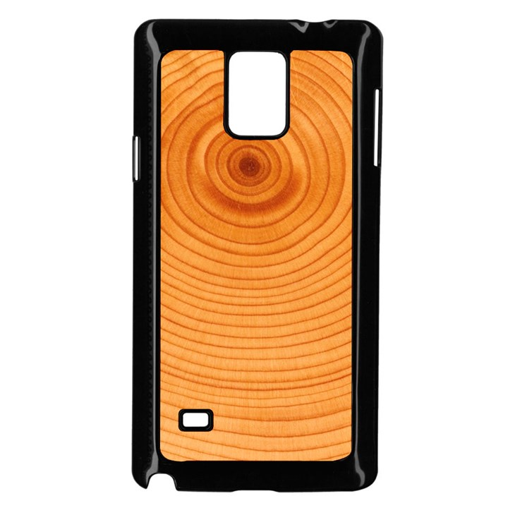 Rings Wood Line Samsung Galaxy Note 4 Case (Black)