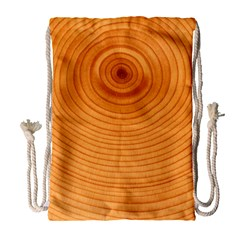 Rings Wood Line Drawstring Bag (large) by Alisyart