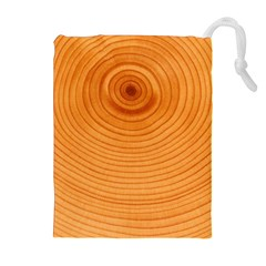 Rings Wood Line Drawstring Pouch (xl)