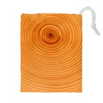Rings Wood Line Drawstring Pouch (XL) Front