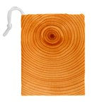 Rings Wood Line Drawstring Pouch (XL) Back