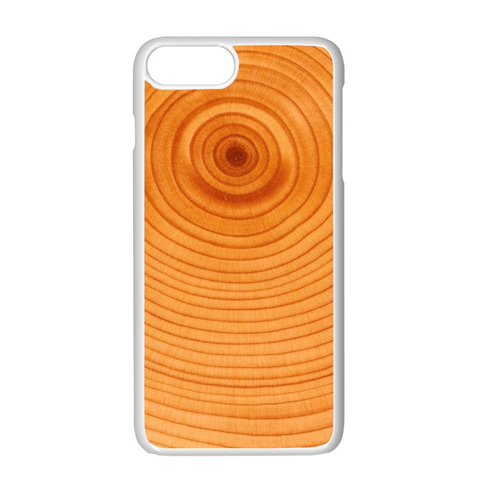 Rings Wood Line Apple iPhone 7 Plus Seamless Case (White)