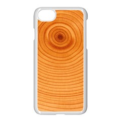Rings Wood Line Apple Iphone 7 Seamless Case (white)