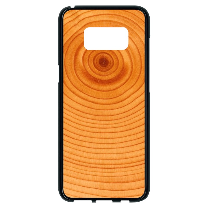 Rings Wood Line Samsung Galaxy S8 Black Seamless Case