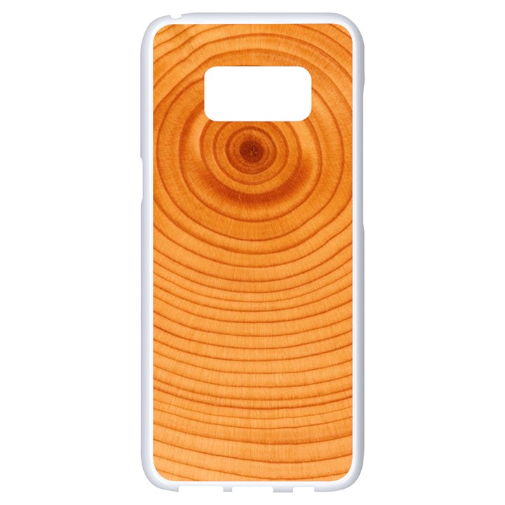 Rings Wood Line Samsung Galaxy S8 White Seamless Case