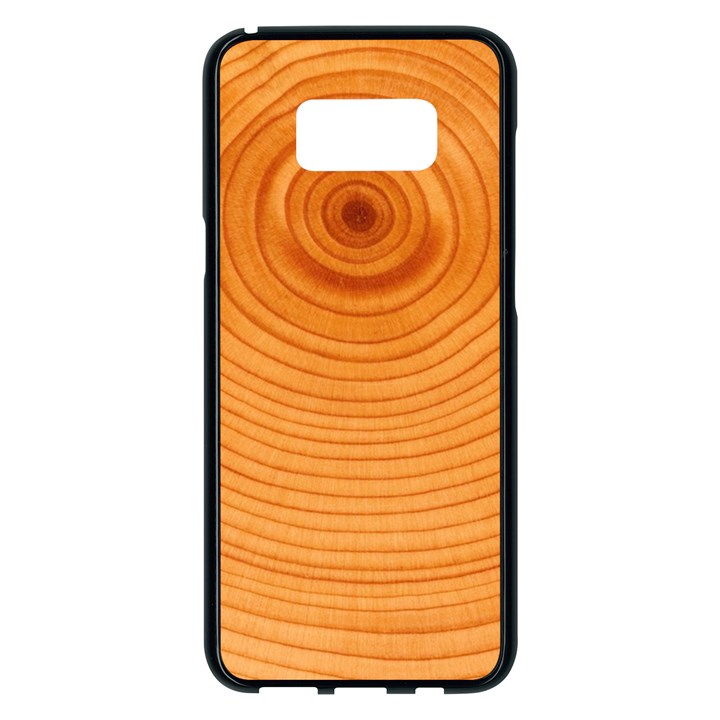 Rings Wood Line Samsung Galaxy S8 Plus Black Seamless Case
