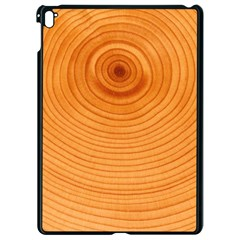 Rings Wood Line Apple Ipad Pro 9 7   Black Seamless Case