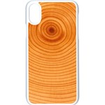 Rings Wood Line Apple iPhone X Seamless Case (White) Front