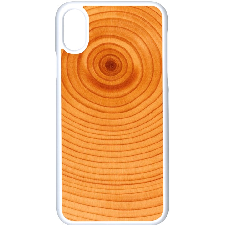 Rings Wood Line Apple iPhone X Seamless Case (White)