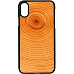 Rings Wood Line Apple iPhone X Seamless Case (Black) Front