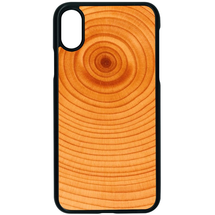 Rings Wood Line Apple iPhone X Seamless Case (Black)